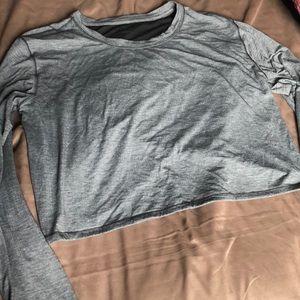 Lululemon Sz 8 Cropped Long Sleeve Hblk